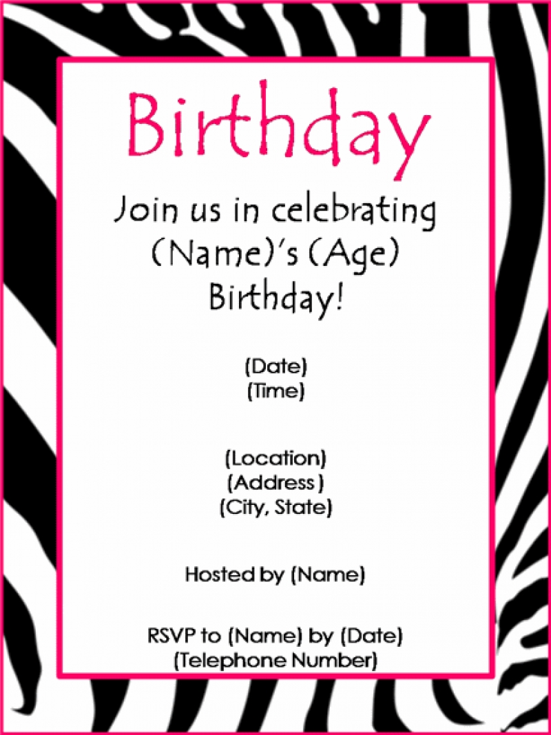 birthday party invitation template with photo ; birthday-party-invitation-maker-theruntime