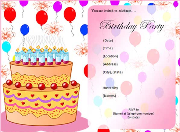 birthday party invitation template with photo ; birthday-party-invitation-template-as-a-result-of-a-fair-free-invitation-templates-printable-for-your-good-looking-Birthday-10