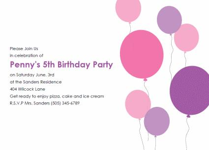 birthday party invitation template with photo ; free-bday-invt-bllns-pink