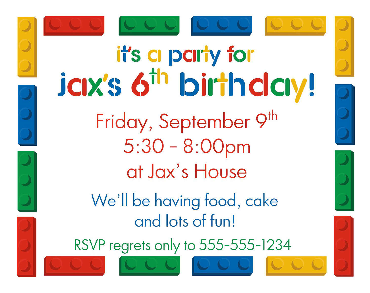 birthday party invitation template with photo ; free-kids-birthday-invitation-templates-6th-kids-birthday-party-invitations-template