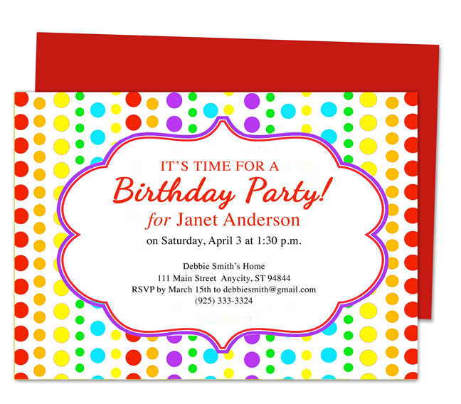 birthday party invitation template with photo ; kids-birthday-invitations-templates-kids-birthday-invitation-birthday-party-invites-templates