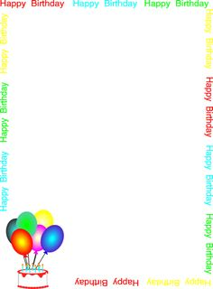 birthday party page borders ; 839b061ef4a181bc3ce7642eef294b7c--page-borders-border-design
