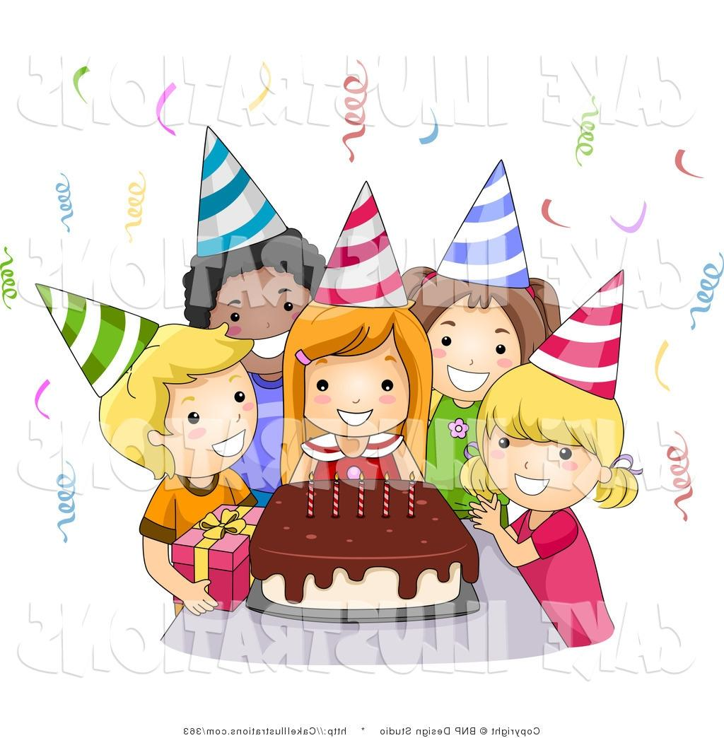 birthday party pictures for drawing ; best-free-illustration-of-girls-birthday-party-with-cake-by-bnp-design-clipart-drawing