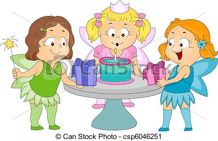 birthday party pictures for drawing ; birthday-fairy-theme-clipart_csp6046251