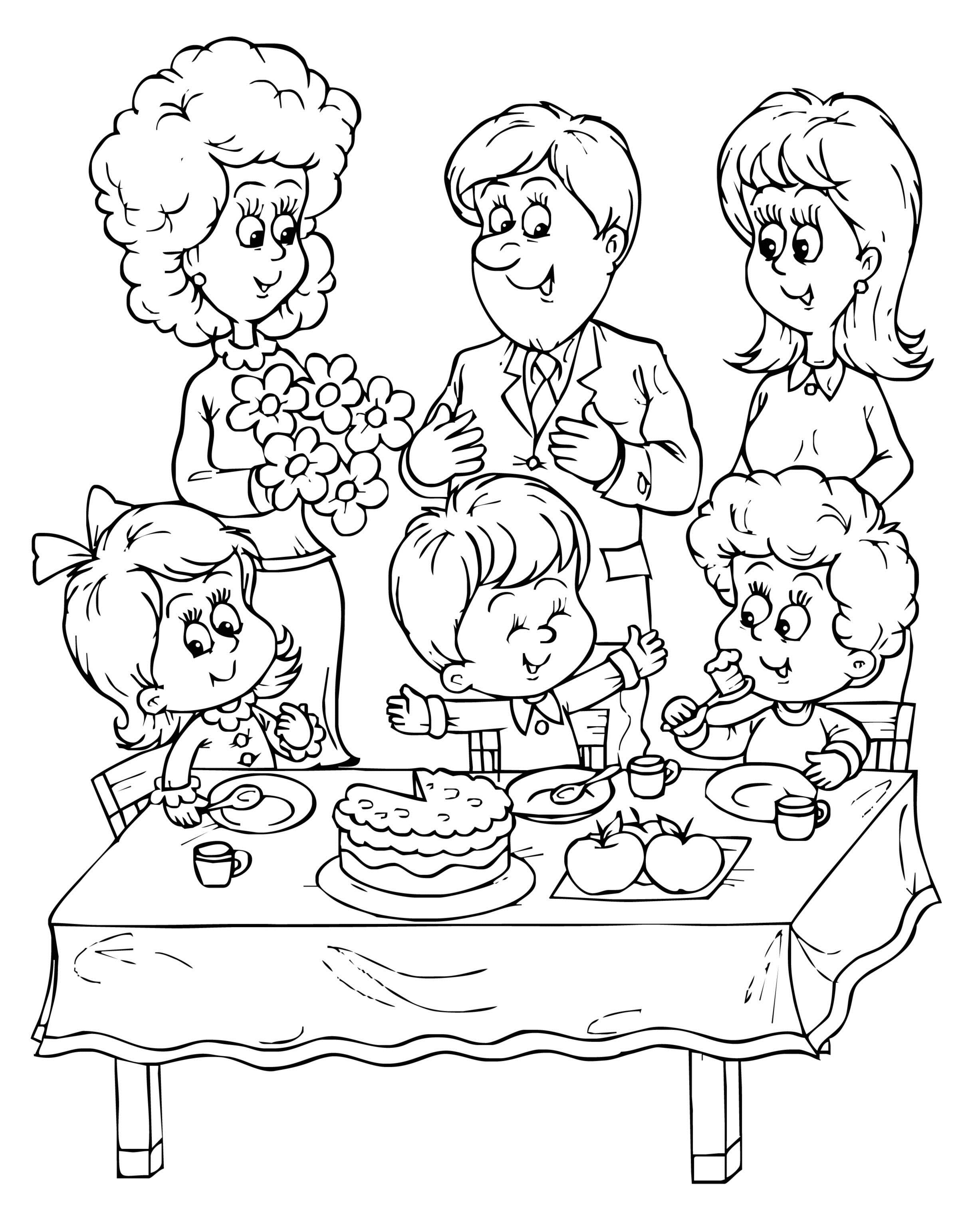 birthday party pictures for drawing ; coloring-birthday-party-pages-for