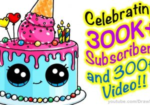 birthday party pictures for drawing ; how-to-draw-a-cute-cake-step-step-easy-celebrating-300k-300x210