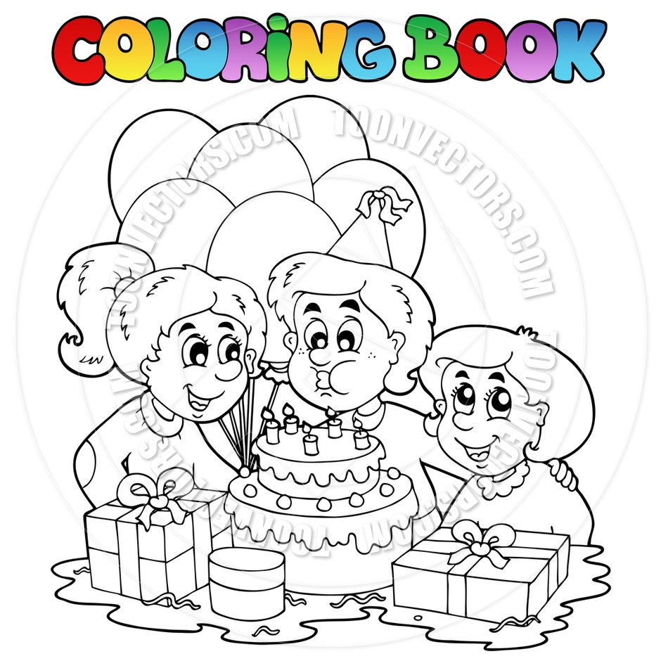 birthday party pictures for drawing ; toonvectors-39325-940