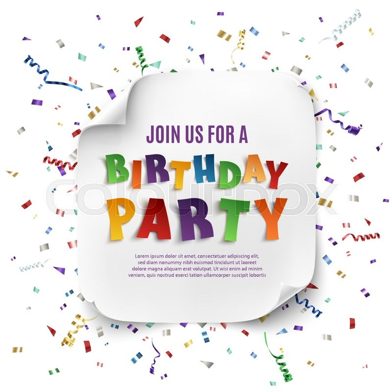 birthday party poster ; 800px_COLOURBOX18544547