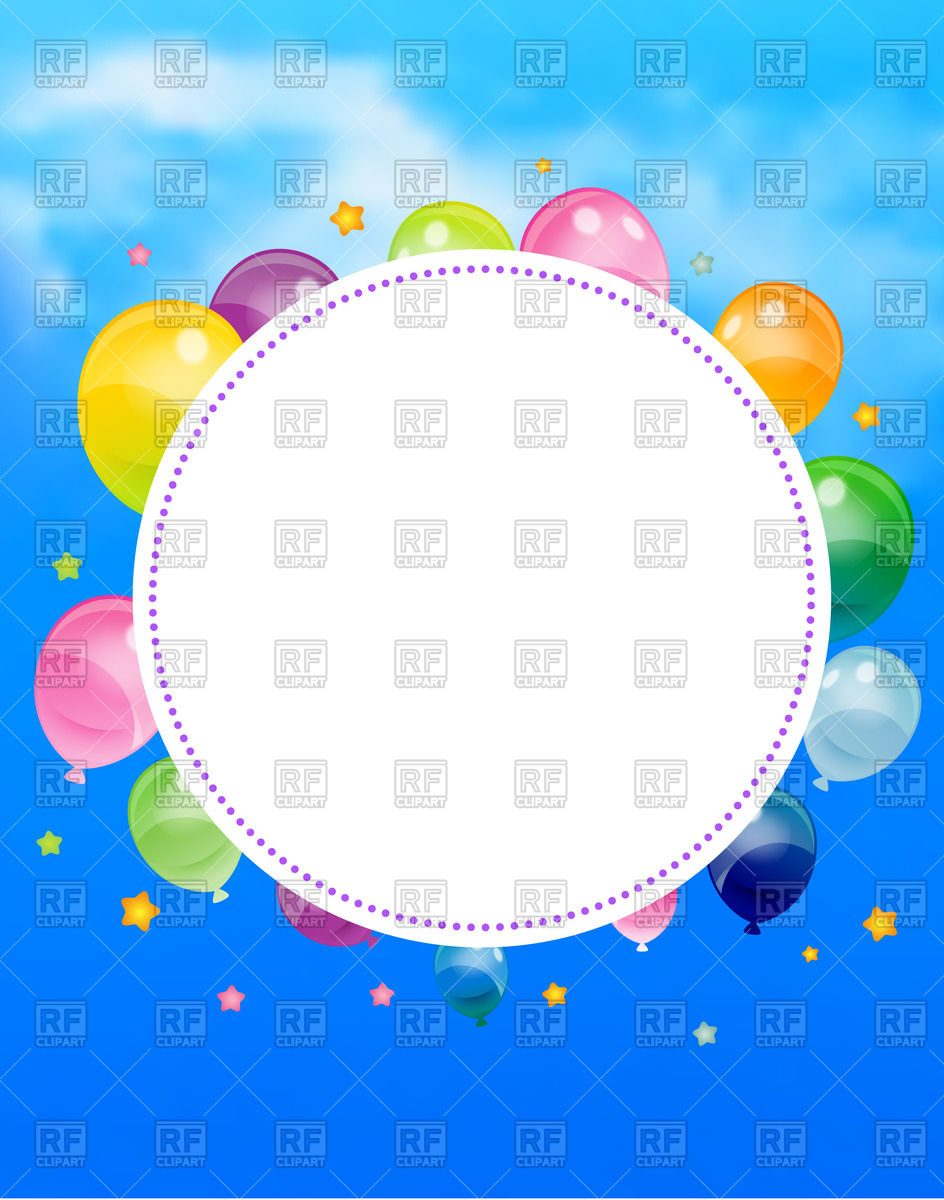 birthday party poster ; birthday-party-poster-with-round-frame-flags-and-ballons-Download-Royalty-free-Vector-File-EPS-96247