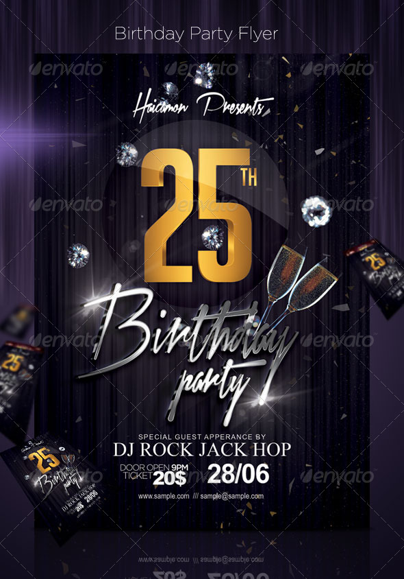 birthday party poster ; birthday-preview