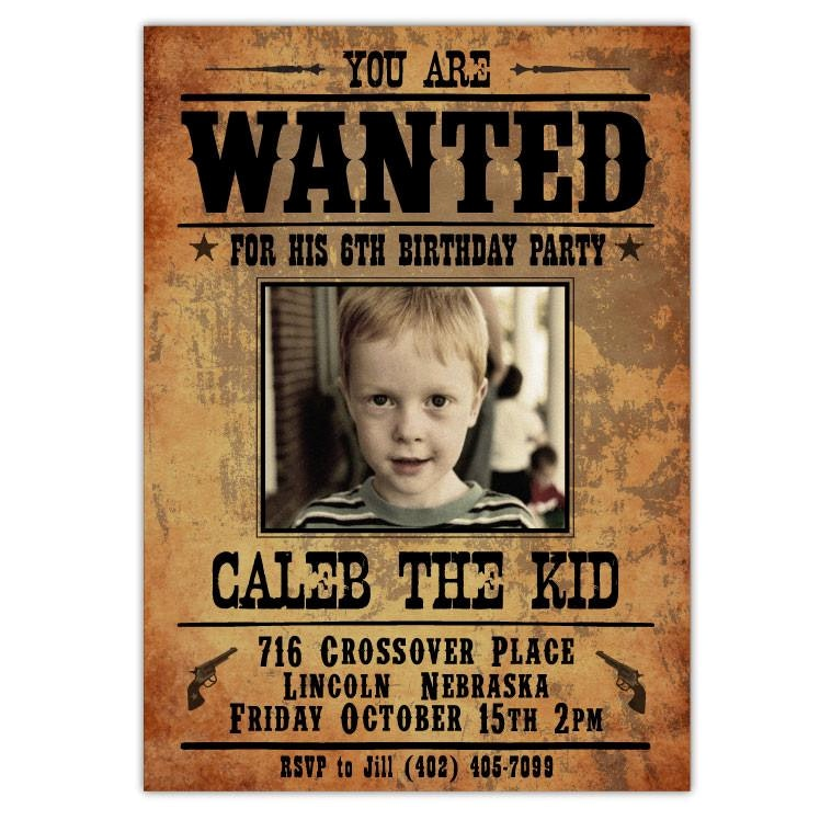 birthday party poster ideas ; impressive-wanted-poster-birthday-invitations-and-cool-ideas-of-outlaw-party-ian-lola-posters-5
