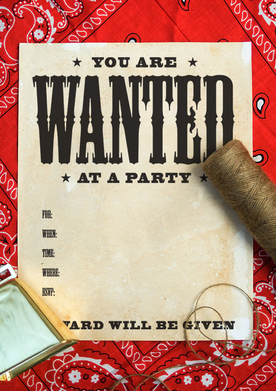 birthday party poster ideas ; wanted-poster-pic-1