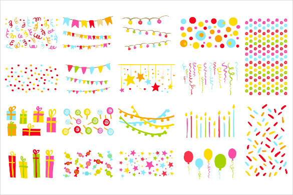 birthday photo banner template ; Ballon-Birthday-Banner-Template