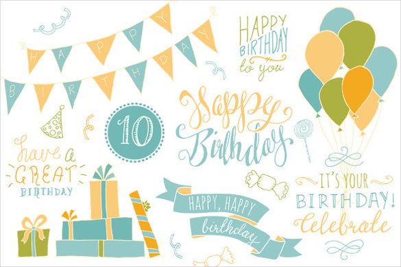 birthday photo banner template ; Birthday-Photoshop-Overlays-Banner-Template