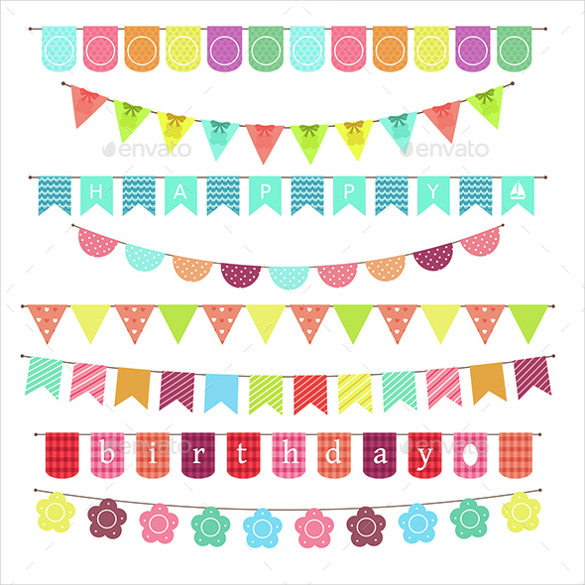 birthday photo banner template ; Festival-Sample-Birthday-Banner-Template
