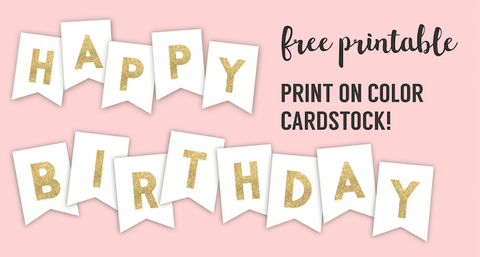 birthday photo banner template ; Happy-Birthday-Banner-gold-short
