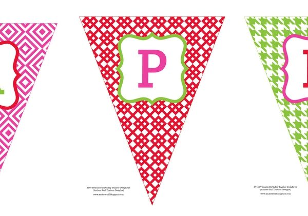 birthday photo banner template ; flag-banner-template-coloring-page-my-princess-room-in-happy-birthday-flag-banner-template