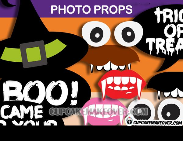 birthday photo booth props signs ; 7-Halloween-Witch-Photo-Props
