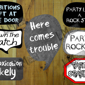 birthday photo booth props signs ; x354-q80