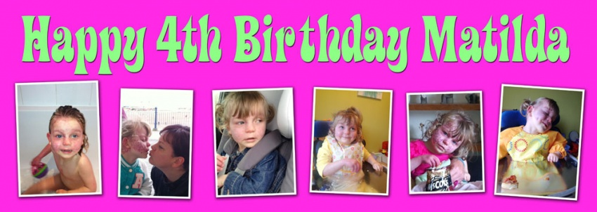 birthday photo collage banner ; CH64Matilda4