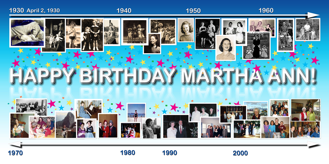 birthday photo collage banner ; banner_80thBday