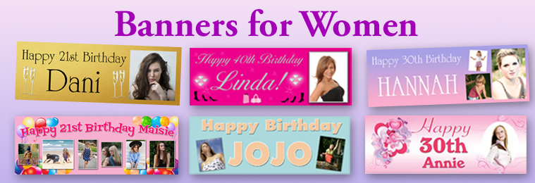 birthday photo collage banner ; bannersforwomen