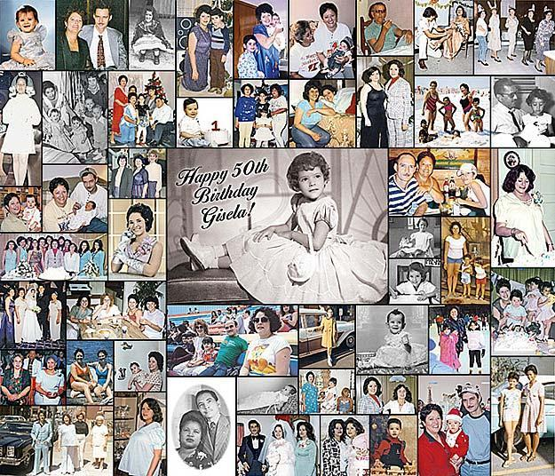 birthday photo collage banner ; classic-photo-collage-print