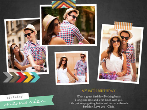 birthday photo collage banner ; screenshot
