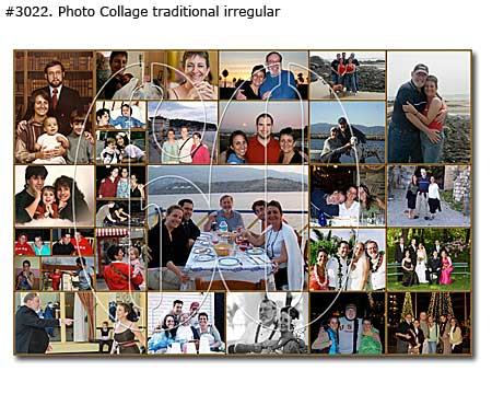 birthday photo collage poster ; 3022_01-Birthday-Collage-Traditional