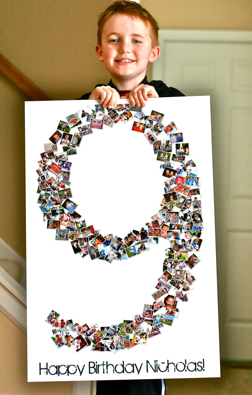 birthday photo collage poster ; birthday-collage-poster