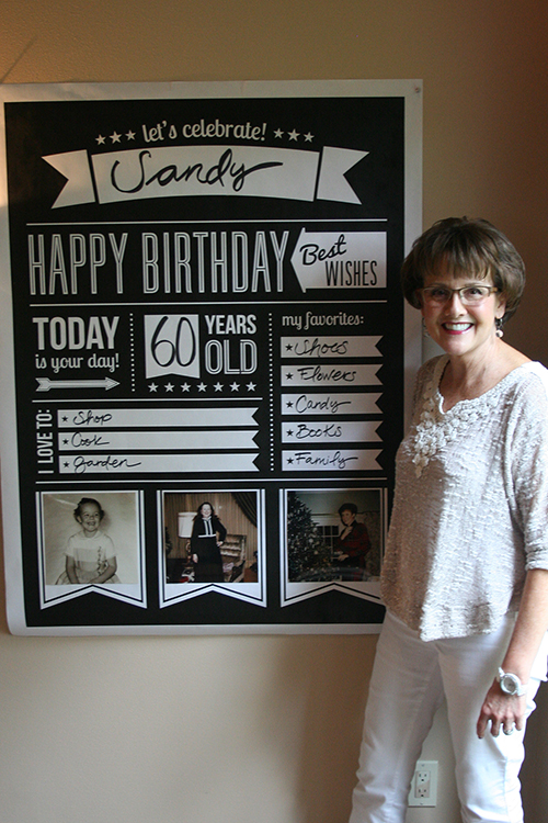 birthday picture poster ideas ; Sandy