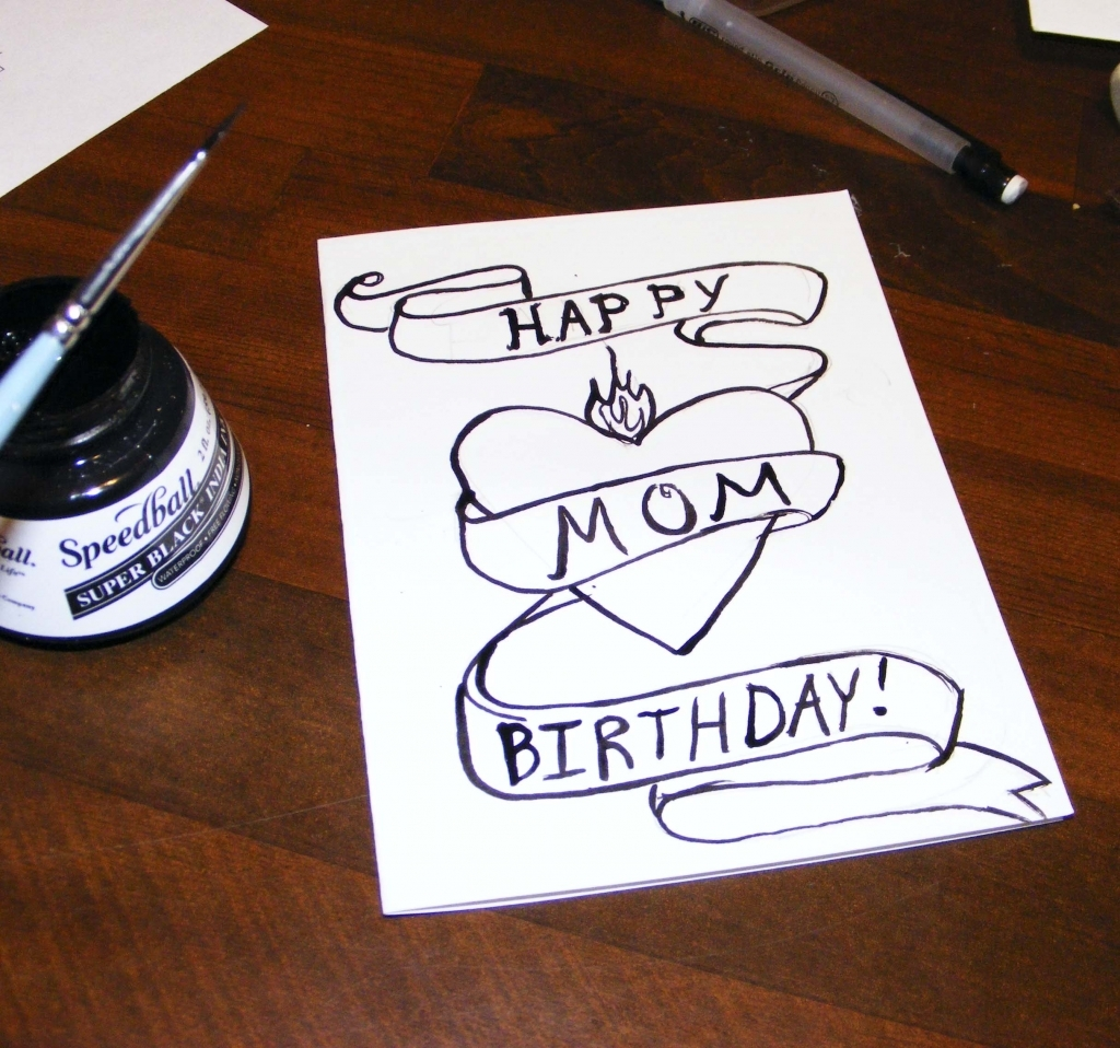 birthday pictures to draw on a birthday card ; how-to-draw-a-birthday-card-gangcraft