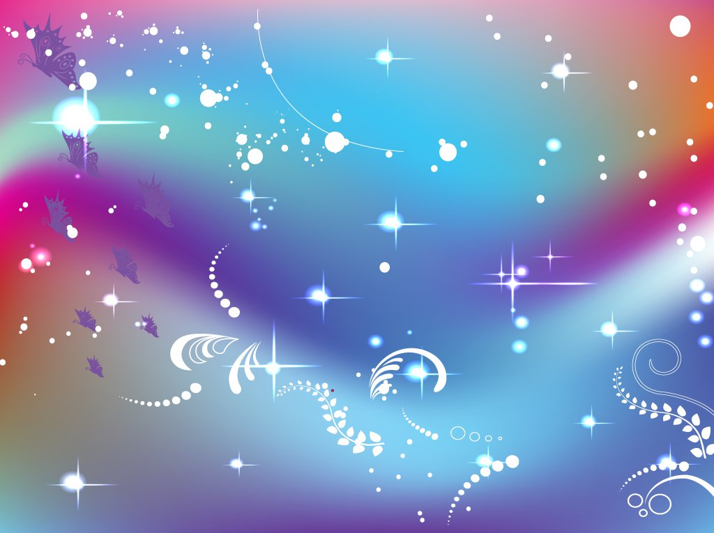 birthday poster background ; FreeVector-Butterfly-Fantasy-Background