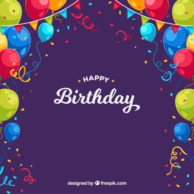 birthday poster background ; birthday-background-with-colorful-balloons-and-confetti_23-2147643764