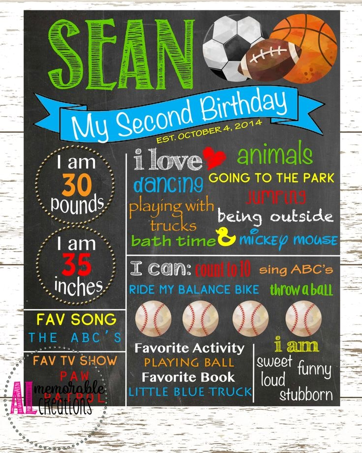 birthday poster board ; creative-second-birthday-poster-and-good-ideas-of-18-best-stat-board-images-on-pinterest-posters-17