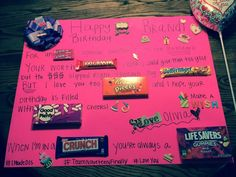 birthday poster ideas for best friend ; 1a1a88ad46cfaf5e41126dac7b4c74bd--birthday-candy-posters-candy-bar-posters