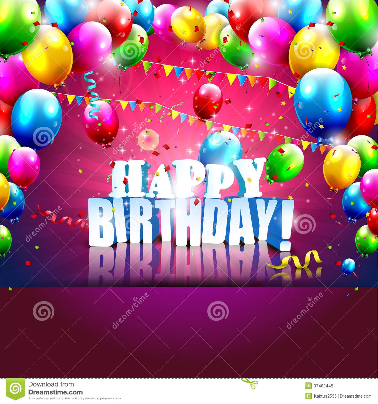 birthday poster images ; birthday-poster-realistic-colorful-balloons-d-text-vector-background-copyspace-37489445