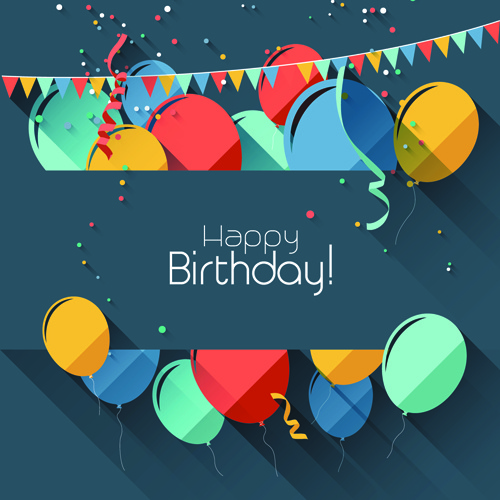 birthday poster images ; colored_confetti_with_happy_birthday_gray_background_vector_547421