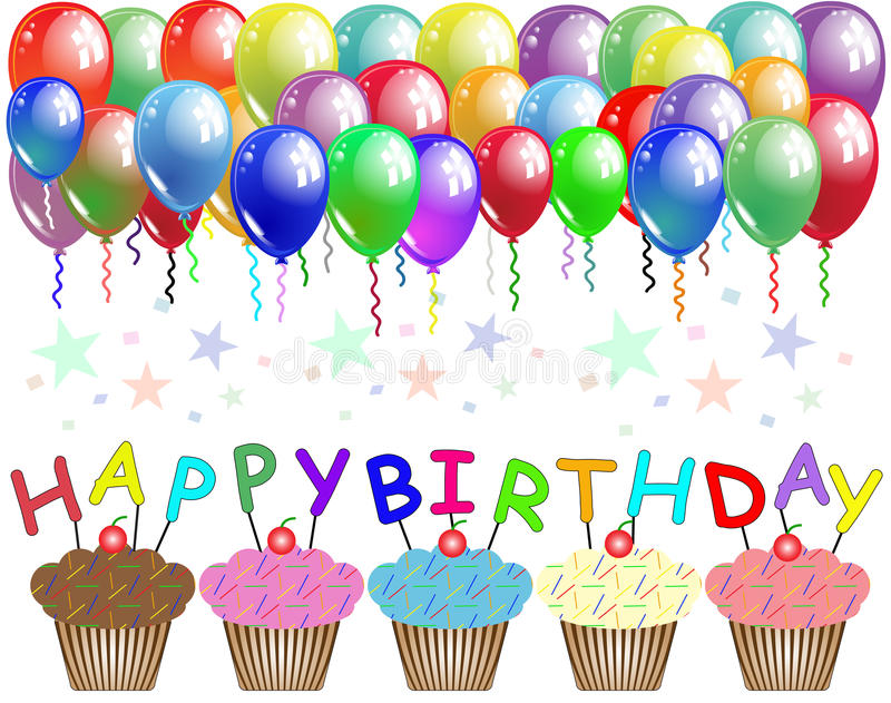 birthday poster images ; happy-birthday-poster-card-balloons-cupcakes-57775605