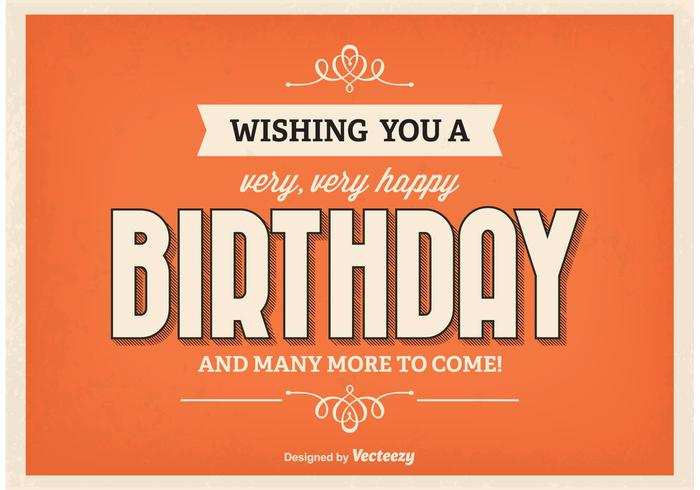 birthday poster images ; retro-style-birthday-poster-vector
