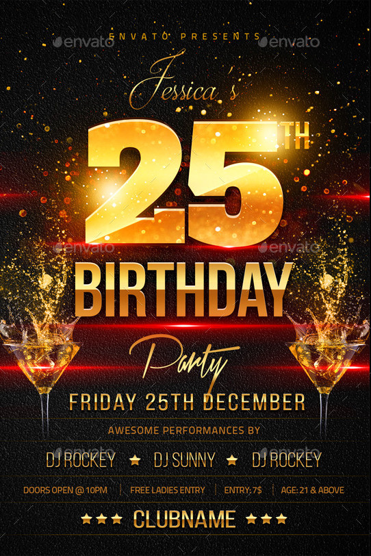 birthday poster template ; A4-Design-Flyer-for-Birthday