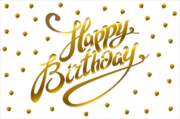 birthday poster template ; Golden-Birthday-Poster-Template