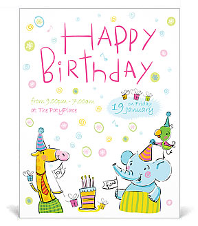 birthday poster template ; poster-templates-b