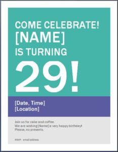 birthday poster template word best happy birthday wishes