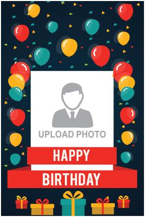 birthday posters with photo ; 25_3_169