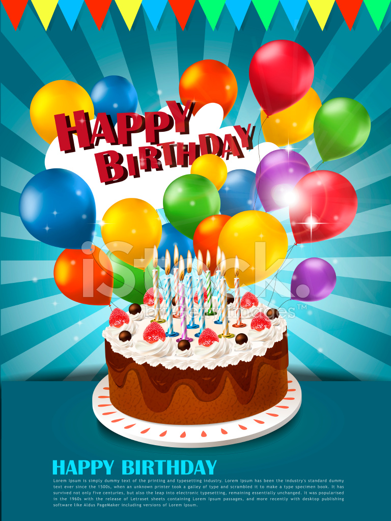 birthday posters with photo ; 44628818-happy-birthday-poster