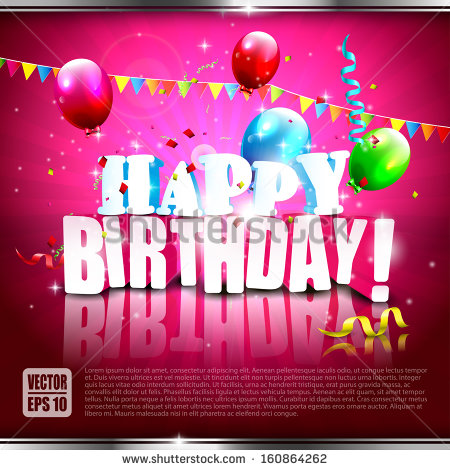birthday posters with pictures ; stock-vector-realistic-colorful-birthday-poster-with-balloons-and-d-text-vector-background-160864262