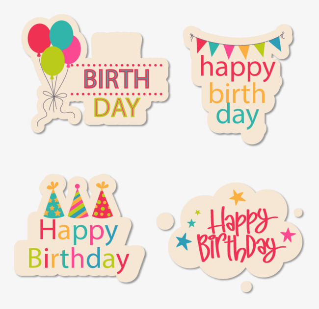 birthday stickers ; 2cd6e2afde049674f5e54dc7696c96cc