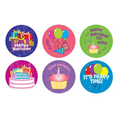 birthday stickers ; 61ftKPEzkcL