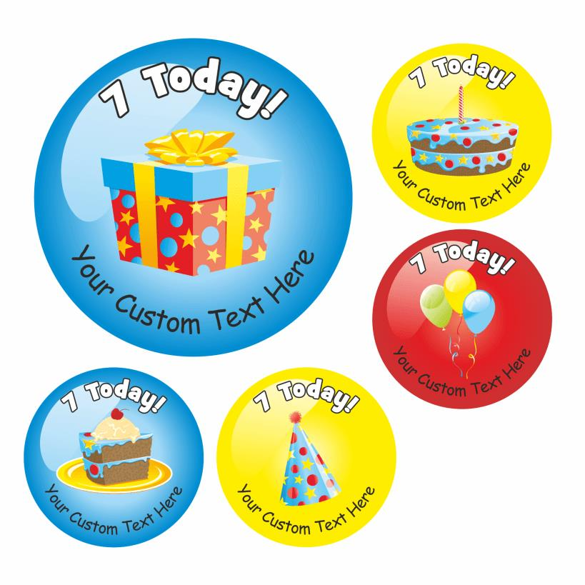 birthday stickers ; BDAYVARIETY-7-00